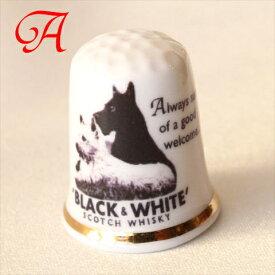 ブラック ホワイト Black & White スコッチ ウィスキー Scotch whisky 白い犬と黒い犬 ウエスト ハイランド テリア スコティッシュ テリア イギリス アドバタイジング ADVERTISING 広告 ポスター シンブル 指貫き ソーイング 02P09Jul16 532P16Jul16 02P29Jul16
