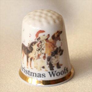 ウ〜 犬がいっぱい♪ クリスマス ウォフス Christmas Woofs クリスマスのプレゼントに♪ シンブル 指貫き ソーイング コレクション アイテム 誕生日 ギフト プレゼント