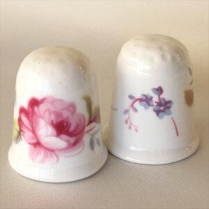 TCC 可愛らしいピンクの花 シュルースベリー Shrewsbury コールポート Coalport フラワー シンブル 指貫き 誕生日 プレゼント ソーイング コレクション アイテム 小物 02P23Aug15