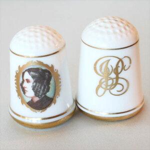 ジェーン ピアス アメリカ ファーストレディーフランクリン大統領の妻ファーストレディーセット シンブル(指貫)フランクリン ポーセリン ミント(Franklin Porceline Mint) 02P19Jun15