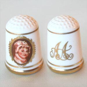 アビゲイル アダムズ アメリカ ファーストレディージョン アダムズ大統領の妻ファーストレディー シンブル(指貫)フランクリン ポーセリン ミント(Franklin Porceline Mint)