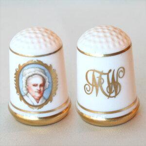 マーサ ワシントン アメリカ ファーストレディージョージ ワシントン大統領の妻ファーストレディー シンブル(指貫)フランクリン ポーセリン ミント(Franklin Porceline Mint)