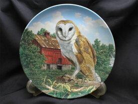バーンアウル(Barn Owl)メンフクロウ威厳あるフクロウの絵皿 Jim Beaudoinアメリカ ノウルズ限定発行1990年 ステートリー オウル シリーズ オウル 【送料無料】
