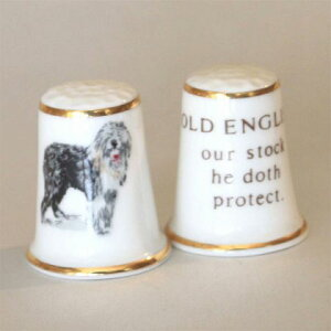Aynsley オールドイングリッシュ Old English シープドッグ 牧羊犬 エインズレイ イギリスの名窯 ドッグ Dog シンブル 指貫き 母の日 誕生日 プレゼント ソーイング コレクション アイテム 小物 02P2