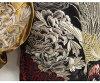 화려악단[하나타히″카 ″쿠타″]모란과 봉황 자수 리버시블화 무늬 스카잘/SSJ-004/