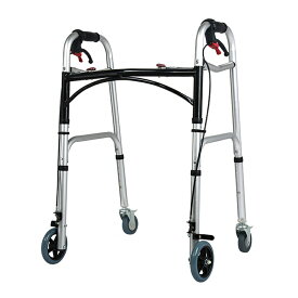 【送料無料】 歩行器 ブレーキ付き 折りたたみ 交互歩行器 固定歩行器 高さ8段階調節可能 キャスター付き 歩行補助 高齢者 お年寄り 介護用 介護用品 室内 屋外 敬老の日