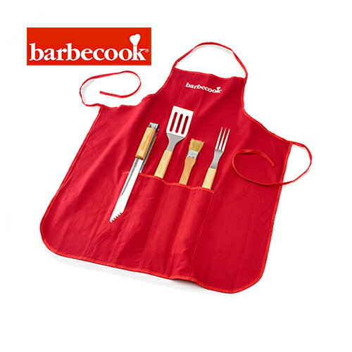 barbecook 223.0170.000 バーベクック バーベキューツール付きエプロン レッド APRON WITH A BARBECUE TOOLS 【正規輸入代理店】【翌日発送】