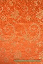 チャイナドレス用生地 チャイナ生地 コスプレ 舞台 よさこい オレンジ 中国製 【50cm以上10cm単位での販売】