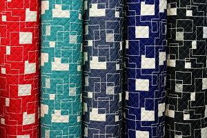 キルト キルティング 幾何柄 北欧調 北欧風 ツイル生地 綿100% 生地幅 約108cm 日本製【50cm以上10cm単位での販売】