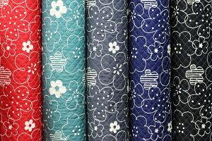 キルト キルティング 花柄 フラワー 北欧調 北欧風 ツイル生地 綿100% 生地幅 約108cm 日本製 【50cm以上10cm単位での販売】