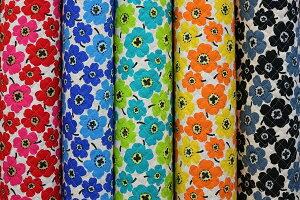 綿麻 キルト キルティング 生地 花柄 小花 フラワー北欧調 北欧風 綿80%麻20% 約108cm巾 日本製【50cm以上10cm単位での販売】