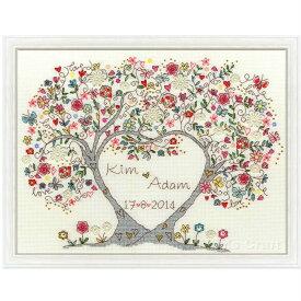 クロスステッチ 刺繍キット ラブブラッサム Bothy Threads Love Blossoms 日本語解説付き 海外輸入品 ウエディング ウェルカムボード