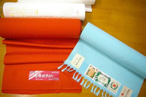 【丹後織物工業組合・染色工場】正絹白生地反物10m〜14mの無地染め加工を承ります。約3週間後におとどできます。