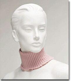 こんなの欲しかった!! 人気のお品です。絹の保温ネックウォーマ、シルク混のブーメロン編みM〜Lのフリーサイズ、首筋を暖めます。日本製 made in Japan/首巻/UVカット/日焼け止め/冷え予防