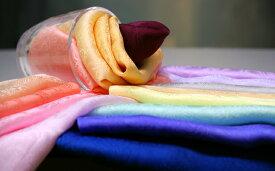 細長ロングのサマースカーフ22cm×150cm抗菌防臭加工+ひんやりキシリトール冷感加工済柔らかな上質シルクサテンペイズリー地紋リボン結びが綺麗にできます/シルク100%/ギフト箱入りで出荷/UVカット効果/京都・丹後・日本製