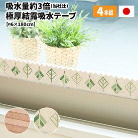\数量限定/極厚 結露吸水テープ 4枚組【送料無料】【日本製】厚みのある起毛素材でたっぷり吸水。