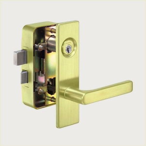 GOAL V-MXL ゴールド(260)色面付箱錠/ディンプルキー/レバーハンドルタイプ