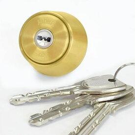【MIWA LAMA、LASP、DA他対応】PR LA交換用シリンダー /ゴールド(GD)色2個同一キーセット(キー6本付)