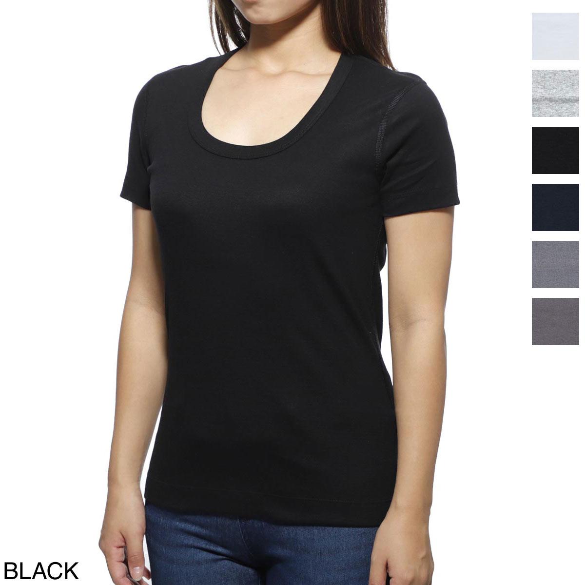 スリードッツ three dots UネックTシャツ レディース コットン aa1s 004 wht Jessica ジェシカ【ラッピング無料】【返品送料無料】【あす楽対応_関東】
