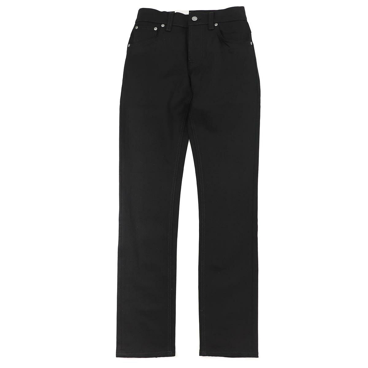 ヌーディージーンズ nudie jeans co ボタンフライジーンズ ブラック メンズ コットン grim tim 112302 GRIM TIM SLIM REGULAR FIT【ラッピング無料】【返品送料無料】【171016】【あす楽対応_関東】