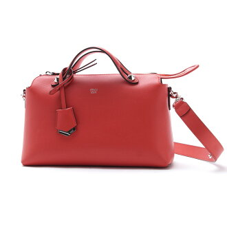 芬迪FENDI寬底旅行皮包(2WAY式樣)BY THE WAY面罩方法LEATHER FLAME×PALLADIUM紅派8bl124 1d5 f0y77女士