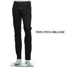 ヌーディ—ジーンズ nudie jeans co ジップフライジーンズ ブラック メンズ コットン 大きいサイズあり thin finn 112303 THIN FINN ORGANIC レングス32【あす楽対応_関東】【返品送料無料】【ラッピング無料】