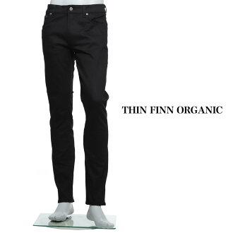 누디 청바지 nudie jeans coZip 플라이 청바지 THIN FINN ORGANIC 블랙 블랙계 thin finn 112303 맨즈