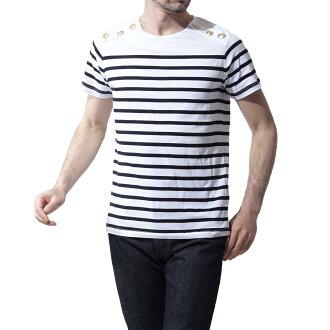 pierubaruman PIERRE BALMAIN圓領T恤WHITEBLUE白派hp66227t a6296 090人