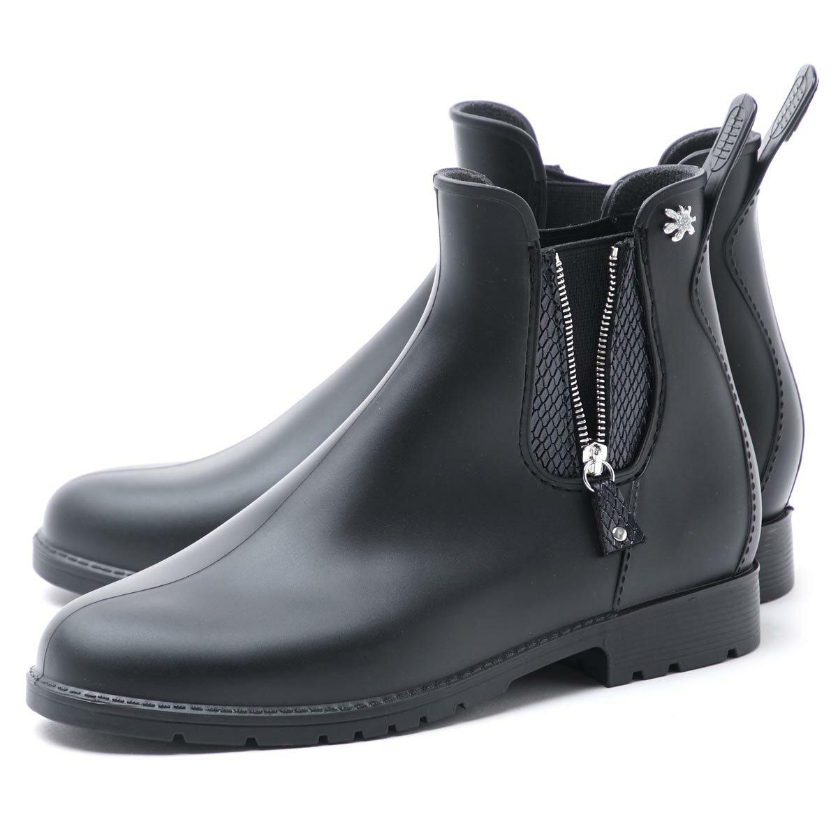 メデュース meduse レインブーツ ブラック レディース ショート umo ウモ サイドゴア 軽量 雨靴 jumpzip noir JUMPZIP【ラッピング無料】【返品送料無料】【170323】【あす楽対応_関東】