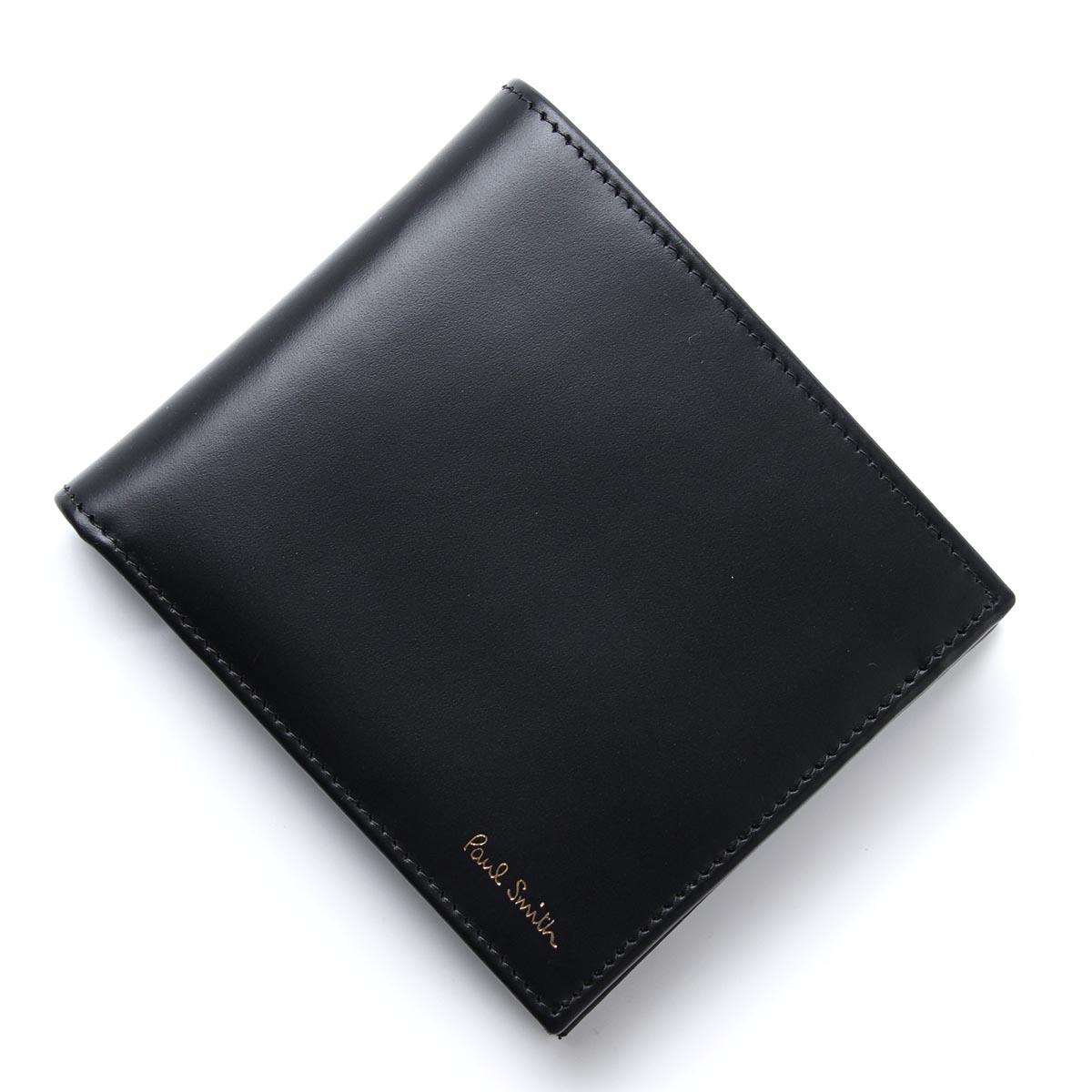 ポールスミス Paul Smith 2つ折り財布 MEN WALLET BFOLD COIN BLACK ブラック系 asxc4833 w761 b メンズ【ラッピング無料】【返品送料無料】