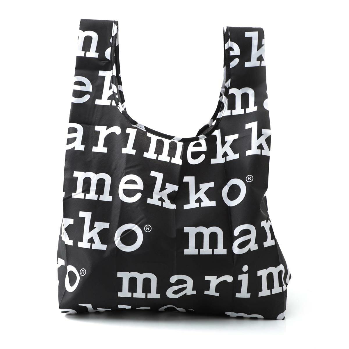 マリメッコ marimekko エコバッグ ブラック レディース バッグ トートバッグ 北欧 41395 910 MARILOGO【ラッピング無料】【返品送料無料】【170711】【あす楽対応_関東】