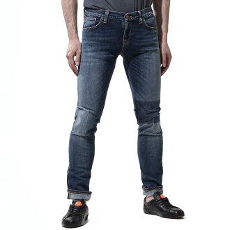 牛羚日-牛仔褲nudie jeans co jippufuraijinzu LONG JOHN SUPER TIGHT FIT CLEAN PATCHES藍色派long john 112400人