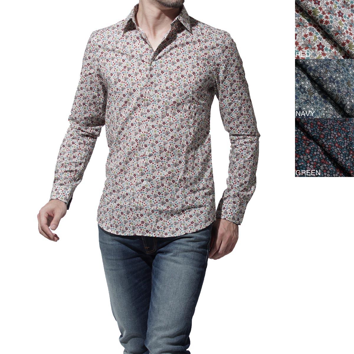 ポールスミス PS BY PAUL SMITH レギュラーカラーシャツ プリントシャツ MENS SHIRT SLIM LSLV psxd433r 471 メンズ【ラッピング無料】【返品送料無料】【あす楽対応_関東】