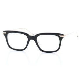 【アウトレット】トムブラウン THOM BROWNE. 眼鏡 メガネ ブラック メンズ 黒 tb 701 a blk gld ウェリントン【あす楽対応_関東】【返品送料無料】【ラッピング無料】