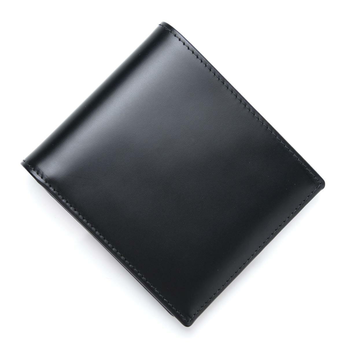 エッティンガー ETTINGER 2つ折り財布 小銭入れ付き BRIDLE LEATHER BLACK ブラック系 bh142jr メンズ【ラッピング無料】【返品送料無料】【あす楽対応_関東】