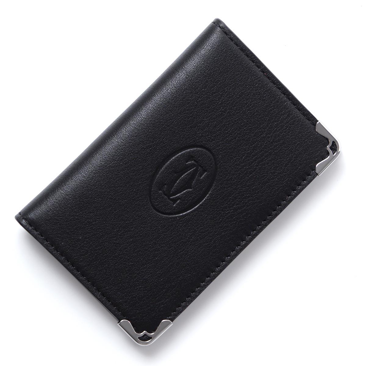 カルティエ Cartier カードケース ブラック メンズ レディース ギフト プレゼント l3001370 black MUST DE CARTIER LEATHER【ラッピング無料】【返品送料無料】【171212】【あす楽対応_関東】