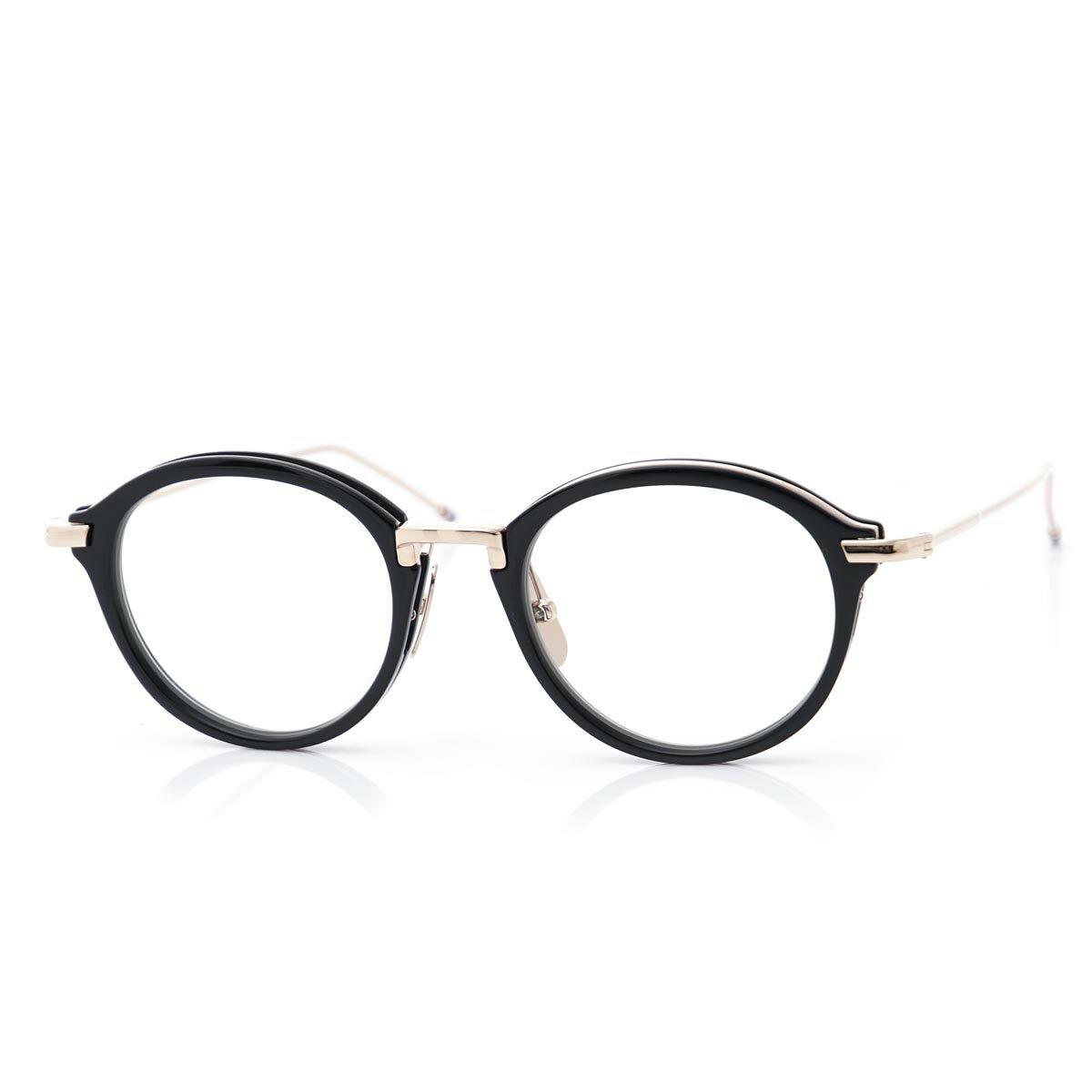 トムブラウン THOM BROWNE. 眼鏡 メガネ ブラック メンズ ギフト プレゼント tb 011 a blk gld 46 オーバル【あす楽対応_関東】【ラッピング無料】【返品送料無料】【180625】
