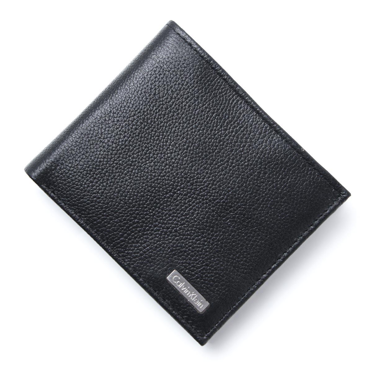 カルバンクライン Calvin Klein 二つ折り 財布 小銭入れ付き ブラック メンズ ウォレット ギフト プレゼント レザー 79215 black【ラッピング無料】【返品送料無料】【あす楽対応_関東】