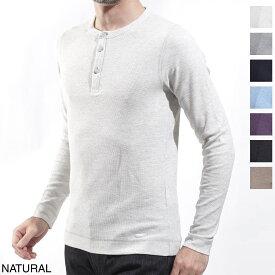 ボスヒューゴボス BOSS HUGOBOSS ヘンリーネック 長袖 カットソー メンズ Tシャツ インナー カジュアル trix 50401843 105 オレンジ トリックス スリムフィット【ラッピング無料】【返品送料無料】【190109】