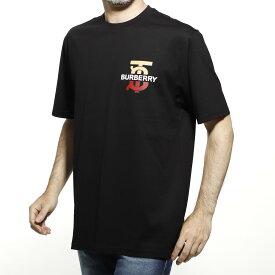 バーバリー BURBERRY クルーネック Tシャツ ブラック メンズ カジュアル トップス インナー スポーツ 半袖 大きいサイズあり MONOGRAM MOTIF COTTON OVERSIZE T-SHIRT【返品送料無料】【ラッピング無料】【190717】