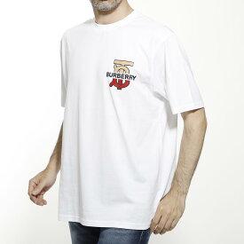 バーバリー BURBERRY クルーネック Tシャツ ホワイト メンズ カジュアル トップス インナー スポーツ 半袖 大きいサイズあり MONOGRAM MOTIF COTTON OVERSIZE T-SHIRT【返品送料無料】【ラッピング無料】【190717】
