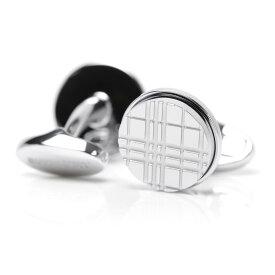 バーバリー BURBERRY カフスボタン カフリンクス シルバー メンズ 8015270 silver PALLADIUM PLATE CHECK ENGRAVED ROUND CUFFLINKS【あす楽対応_関東】【返品送料無料】【ラッピング無料】