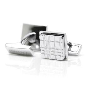 バーバリー BURBERRY カフスボタン カフリンクス シルバー メンズ 8015273 silver PALLADIUM PLATE CHECK ENGRAVED SQUARE CUFFLINKS【あす楽対応_関東】【返品送料無料】【ラッピング無料】