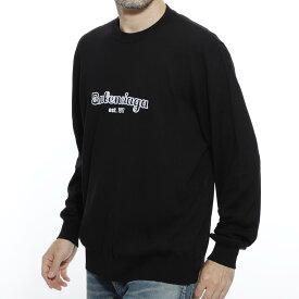 バレンシアガ BALENCIAGA クルーネック セーター ブラック メンズ ニット カジュアル トレンド 大きいサイズあり 583081 t1478 1070 EST. 1917 CREWNECK SWEATER【返品送料無料】【ラッピング無料】【190913】
