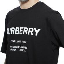 バーバリーBURBERRYクルーネックTシャツブラックメンズカジュアルトップスインナー半袖8017224blackHORSEFERRYPRINTCOTTONT-SHIRT【返品送料無料】【ラッピング無料】