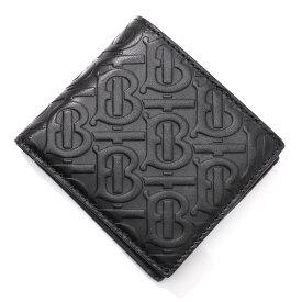 バーバリー BURBERRY 2つ折り 財布 小銭入れ付き ブラック メンズ 8017655 black MONOGRAMED LEATHER BILL COIN WALLET【あす楽対応_関東】【返品送料無料】【ラッピング無料】