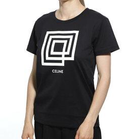 セリーヌ CELINE クルーネックTシャツ ブラック レディース コットン 2x314 605g 38aw SNOW INVITATION LABYRINTH【返品送料無料】【ラッピング無料】