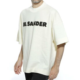 ジルサンダー JIL SANDER モックネック Tシャツ ホワイト メンズ デザイン カットソー カジュアル jsmp707035 mp207308 105 T-SHIRT CN SS【あす楽対応_関東】【返品送料無料】【ラッピング無料】