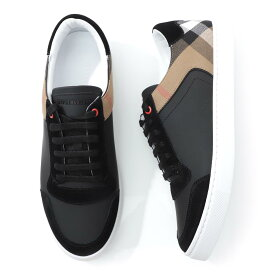 バーバリー BURBERRY スニーカー ブラック メンズ シューズ 靴 カジュアル 大きいサイズあり 4054021 black LEATHER & HOUSE CHECK SNEAKER【返品送料無料】【ラッピング無料】