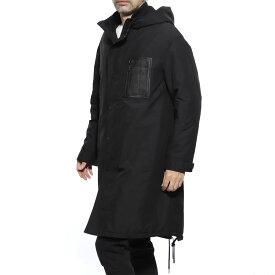 ニールバレット NeIL BarreTT フーデッド コート ブラック メンズ アウター 防寒着 防寒 bca305 m130c 01 HOODED COAT【返品送料無料】【ラッピング無料】